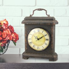 Stonebriar Wood and Metal Mantel Clock