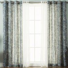 Rosendale Paisley Semi Sheer Grommet Curtain Panels