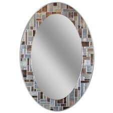 Oval Deep Engravings Accent Wall Mirror