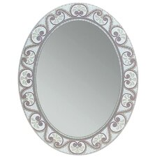 Earthtone Mosaic Accent Bathroom/Vanity Wall Mirror