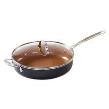 Copper Coated Non-Stick Ceramic Saute Pan with Lid