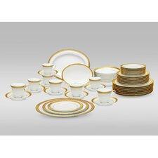 Crestwood Gold 50 Piece Dinnerware Set, Service for 8
