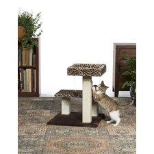 "21"" Kitty Power Paws Leopard Terrace Cat Tree"