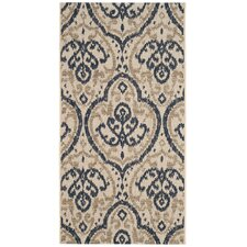 Martha Stewart Fairview Beige/Navy Area Rug