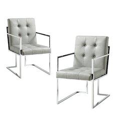 Bellamy Chrome Arm chair (Set of 2)
