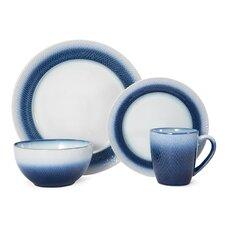 Eclipse Blue 16-Piece Dinnerware Set, Service for 4