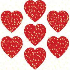 Dazzle Hearts Sticker (Set of 3)