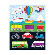 Transportation Shape Sticker (Set of 3)