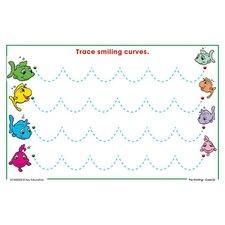 Write On / Wipe Off Pre-Printing Practice Lap Board Whiteboard, 1' H x 1' W
