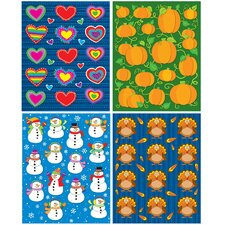 Seasonal Shape Sticker Set