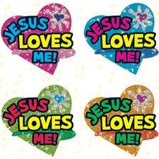 Dazzle Jesus Loves Sticker (Set of 3)
