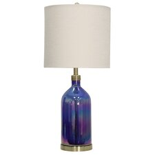 "Bell Acres Coated Art Glass 32"" Table Lamp"