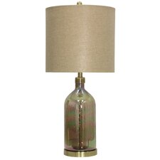 "Akron Coated Art Glass 32"" Table Lamp"