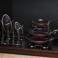 4-Tier Pan Rack Kitchenware Divider (Set of 2)