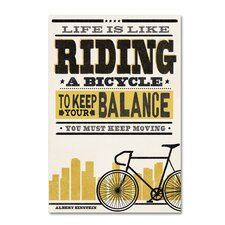'Bicycle 3' Textual Art on Wrapped Canvas