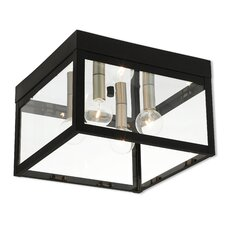 Abbas 2-Light Outdoor Flush Mount