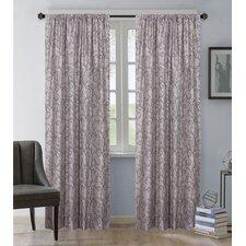 Jayda Riley Paisley Rod Pocket Semi-Sheer Curtain Panel
