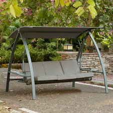 Marine 3-Seat Daybed Porch Swing with Stand
