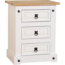 Angelina 3 Drawer Bedside Table