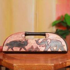 Elephant vs Dog Oware Wood Table Game