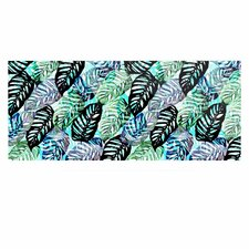 'Tropical Leaves' Graphic Art Print on Metal