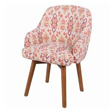Brette Ikat Swivel Arm Chair