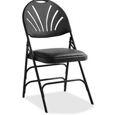 Fanback Vinyl Padded Folding Chair (Set of 4)