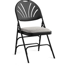 Fanback Fabric Padded Folding Chair (Set of 4)