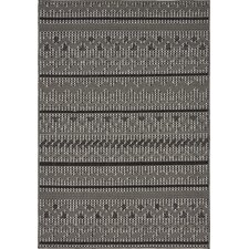 Lulu Yellow Pine Gray Outdoor Area Rug