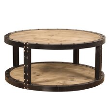 Colinton Aged Wood Iron Coffee Table