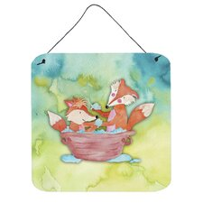 Foxes Bathing Wall Décor