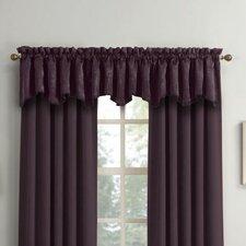 Adam Velvet Texture Blackout Rod Pocket Curtain Valance