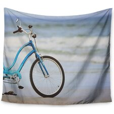 Beach Bike' by Angie Turner Tapestry and Wall Hanging