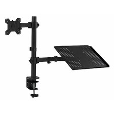 Laptop Desk Stand and Monitor Full Motion Holder Height Adjustable Universal Pole Mount