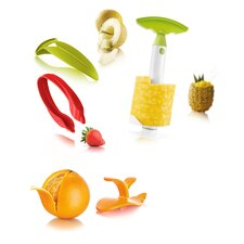 4 Piece Fruit Peeler and Slicer Set
