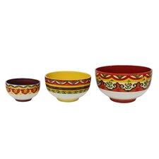 Galicia 3 Piece Ceramic Mixing Bowl Set
