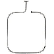 69cm Rectangular Fixed Shower Curtain Rail & Ring Set