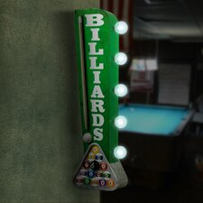 """Billiards Pool Cue"" LED Marquee Sign"
