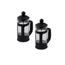 1-Cup Serve Glass French Press Coffee Maker (Set of 2)