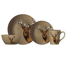 Wildlife 16 Piece Dinnerware Set, Service for 4
