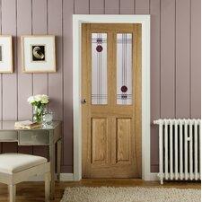 Mackintosh 2 Panel White Oak Veneer Glazed Internal Door