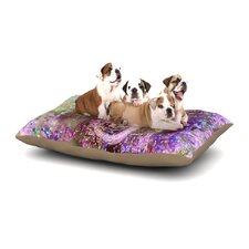 Marianna Tankelevich 'Pink Dust Magic' Elephant Sparkle Dog Pillow with Fleece Cozy Top