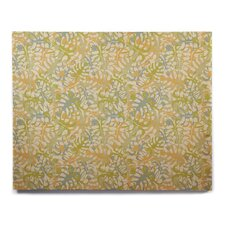 'Warm Tropical Leaves' Graphic Art Print on Wood