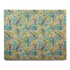 'Tropical Leaves' Graphic Art Print on Wood