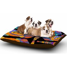 Pom Graphic Design 'The Elephant in the Room' Tribal Dog Pillow with Fleece Cozy Top