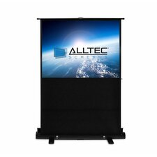 Floor Rising White Portable Projection Screen
