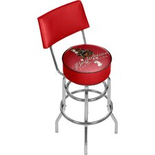 Budweiser Clydesdale Swivel Bar Stool with Back