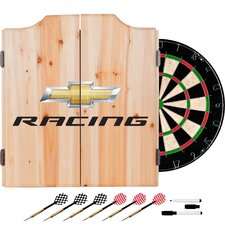 Chevy Racing Dartboard and Cabinet Set