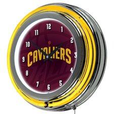 "NBA Fade Neon 14.5"" Wall Clock"