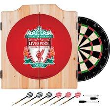 English Premier League Dartboard and Cabinet Set